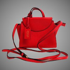 KATE SPADE SATURDAY Mini Cross-body Purse.  Red.  Genuine Leather.  As New Condition.