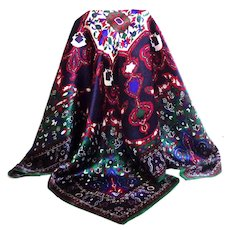 ELLEN TRACY Designer 100% Silk Scarf.  Gorgeous.  As New Condition.