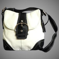 DANIER Genuine Leather Cross Body Purse.  Black and White.  Perfect Condition.