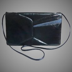 Genuine Leather Navy Clutch / Shoulder / Crossbody Purse.  Totally Elegant.  Mint Condition.