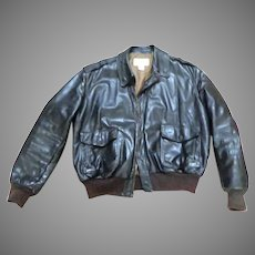 Flying Tiger LL Bean Leather Jacket.  Size 44.  Mint Condition.