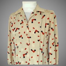 Custom Made and Designed Super Quality Blouse.  1990's. Beautiful.  As New Condition.