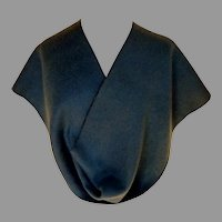 Teal Blue and Navy Reversible Scarf.  Fine, Fine Felted Wool.  Super Soft.  As New Condition.