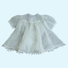 Baby / Doll Dress.  Finest Batiste.  Old Construction Techniques.