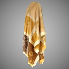 Pashmina / Shawl.  70% Pashmina, 30% Silk.  Creams & Browns.  Totally Gorgeous.  As New Condition.