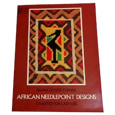 African Needlepoint Designs by Diana Oliver Turner.  Charted.  Color Illustrations.  Perfect Condition.