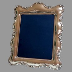 """V. Large Silver Plate Picture / Photo Frame.  15"""" x 12.5"""". Easel. 1930's.  Sheffield England.  Magnificent!  Mint Condition."""