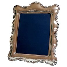 "V. Large Silver Plate Picture / Photo Frame.  15"" x 12.5"". Easel. 1930's.  Sheffield England.  Magnificent!  Mint Condition."