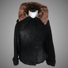 Persian Lamb Jacket with Mink Collar.  Beautiful Styling.  Medium Size.  Perfect Condition.