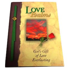 Love Psalms. God's Gift of Love Everlasting.  Devotional.  Beautiful Illustrations.  Hardcover.  As New Condition.