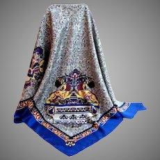 MANLIO BONETTI  Designer Scarf.  100% Silk.  Totally Elegant.  As New Condition.
