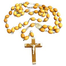 JERUSALEM Rosary.  Olive Wood.  Mint Condition.