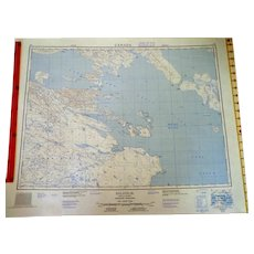 1956-58 Map of Igloolik District of Franklin, Northwest Territories, Canada.  As New Condition.