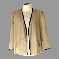 1990 Silk Jacket.  Underlined.  Black & Light Baize.  Totally Elegant.  Mint Condition.