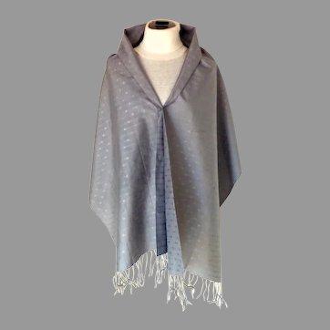 Thai Silk Pashmina / Shawl.  Gray. As New Condition.  Gorgeous Quality.
