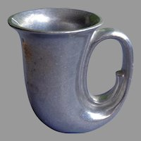 American Pewter Mug.  Wilton Tavern Stein Horn Shape.  As New Condition.