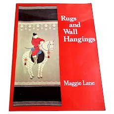 Rugs and Wall Hangings by Maggie Lane.  Canvas Needlepoint Designs.  Chinese Motifs.  Gorgeously Illustrated.  Instructions.  As New Condition.