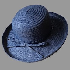 BETMAR New York Picture Hat.  Dark Navy.  Perfect Condition.