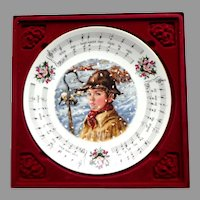 """ROYAL DOULTON Christmas Carols Plate.  2nd in Series.  1983.  """"While Shepherds Watched.""""  Perfect Condition in Original Box."""