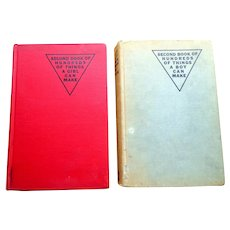 Book of Hundreds of Things a Boy Can Make & Book of Hundreds of Things a Girl Can Make.  2 Books.  Amazing Ideas.  1944 and 1946.
