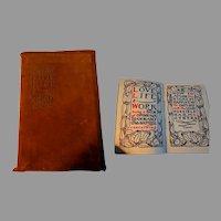 Love Life & Work. Elbert Hubbard.  Roycrofters 1906.  1st Ed.  Brown Genuine Suede Leather Covers.