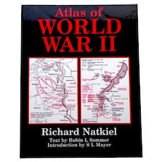 Atlas of World War II.  Richard Natkiel.  1st Ed.  1985.  Reference.  Incredibly Illustrated!  Text.  As New Condition.