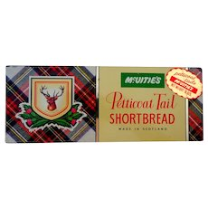 Scottish Shortbread Tin.  McVitie's.  Rectangle.  Tartan Design.
