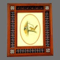 Glen Loates Canadian Wildlife Artist Print in Carved Wood Lattice Mashrabiya Frame / Middle Eastern.