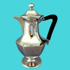 Meriden BC International Silver Plate  Coffee Pot.  One Cup Pot.  Demitasse Pot.  Beautiful.  Perfect Condition.