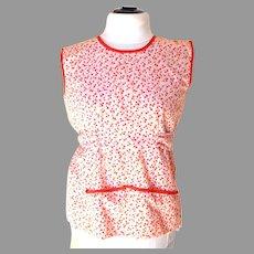 1940's Vintage Apron / Pinny.  Adorable.  Mini Flowered Cotton.  Fine Condition.