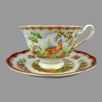 Royal Albert Cup and Saucer.  Made in England.  Chelsea Bird Pattern.  Perfect Condition.