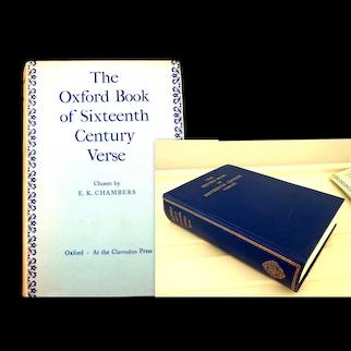 Oxford Book of Sixteenth Century Verse.  Oxford University Press 1970.  Near Fine Condition.