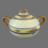 Limoges Sugar Bowl. J ~ B  (Jean Boyer 1919-1930) France.  Perfect Condition.