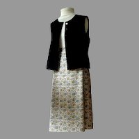 Vintage 2 Piece. Lined Vest & Matching Full A-Line Skirt.  Custom Made.  Mint Condition.