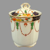 Alfred  Meakin England.  Osiris Solway Decor.  Condiment Jar & Lid.  Perfect Condition.