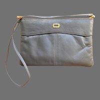 Kannig Mann Designer  Shoulder Bag.  Gray.  Slim Styling.  Quality.  Mint Condition.