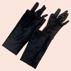 Black Opera / Evening Gloves.  Nylon & Spandex.  One Size.  As New Condition.