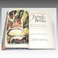 THE JUNGLE BOOKS. Kipling.  Aldren Watson illustrations!  Vol 1. 1948.  Near Fine condition.