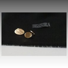 Gold plated Cufflinks.  Elegant.  Restrained etching.  Mint condition.