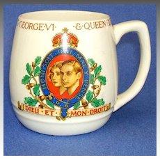 1937 CORONATION MUG.  J & G Meakin England.  George VI & Queen Elizabeth.