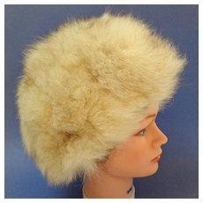 Fox Hat.  Blonde.  Toque Style.  Mint condition.