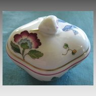 Exquisite Vintage Floral Porcelain Covered Box by Richard Ginori- Florence, Italy