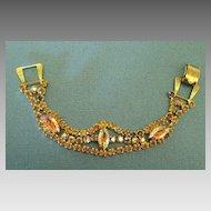 Beautiful Sparkling Vintage 1960's AB Bracelet with Large Prong Set Marquis