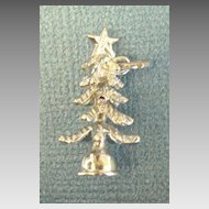Detailed Vintage Sterling Silver Christmas Tree Charm