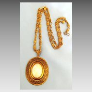 Bold Vintage Copper Necklace with Shell