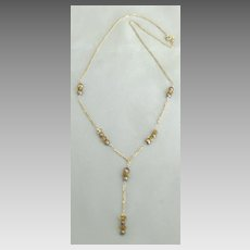 Attractive Sterling Silver Necklace with Citrine and Hematite Beads