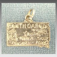 Vintage Sterling Silver South Dakota State Charm