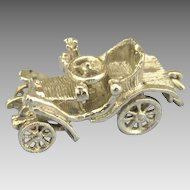 Headlight Missing? - Move-able Vintage Sterling Antique Car Charm