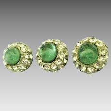 Beautiful 1940's Glass and Rhinestone Buttons