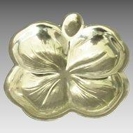 Vintage Sterling 4 Leaf Clover Sterling Dish